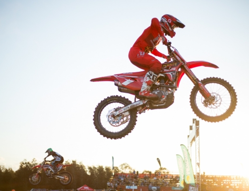 Brayton and Wilson light the candles at the opening round of the Australian Supercross